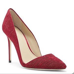 Vince Camuto Woman's Ossie Bordeaux Pump Shoes Red